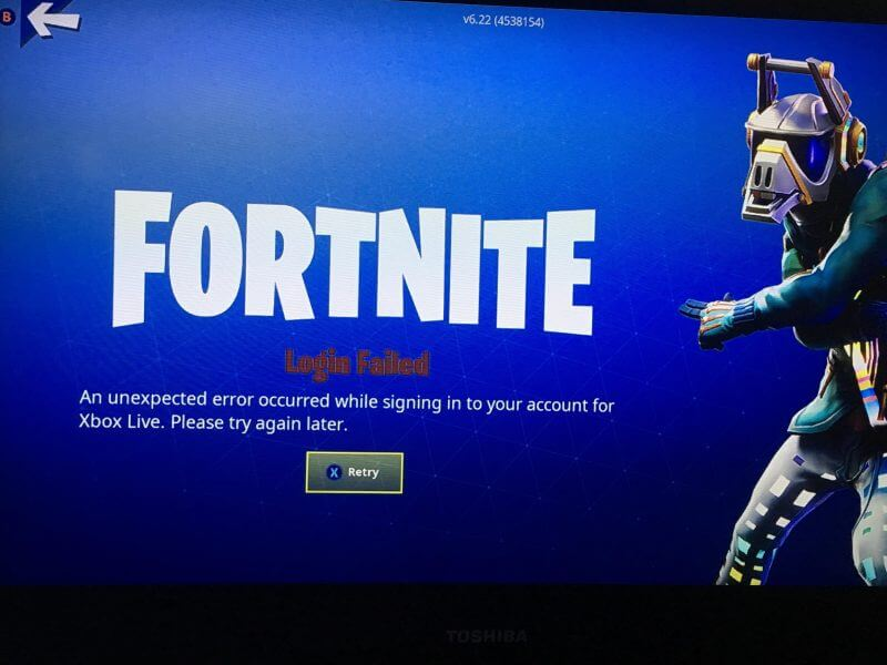 Fortnite An unexpected Error Occurred