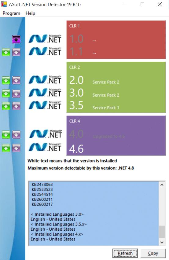 net version detector