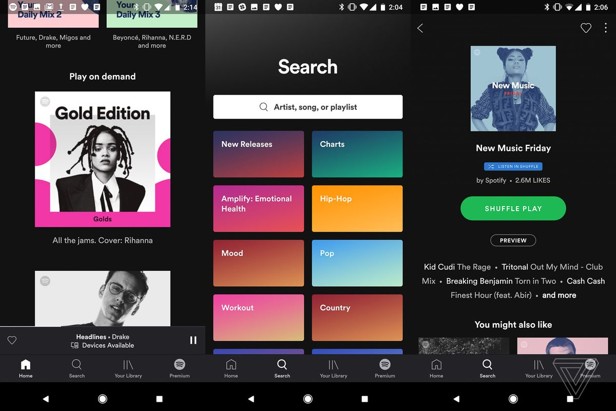 spotify user interface