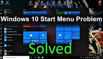 How to fix Windows 10 start menu not working