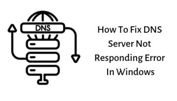 DNS Server Responding Error
