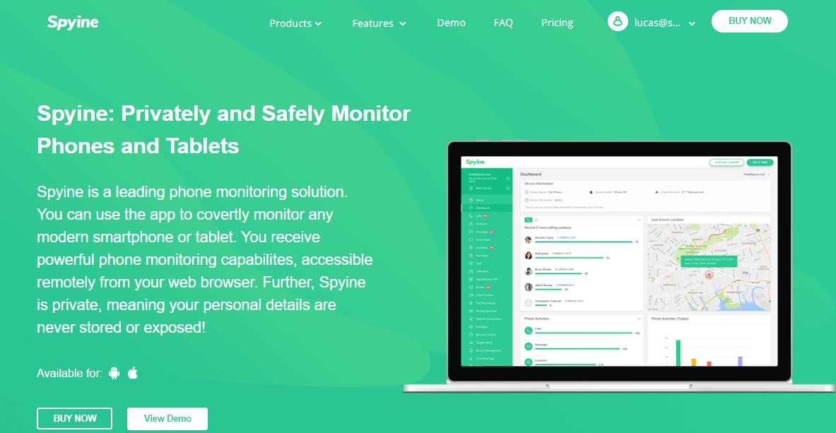 Spyline Homepage